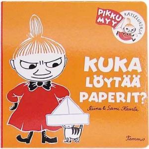書籍 ムーミングッズ ミー絵本 KUKA LOYTAA PAPERIT?(誰が紙を見つけるの?) mikonfinlandshop