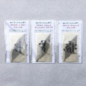 梛(ナギ)の押し葉 熊野紙包み 本地仏種字 熊野三山セット mikumanonet