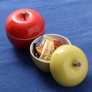 りんごの蓋物 磁器製 箱入り キャンディーボックス 蓋付き容器<京都匙亀>|mikura