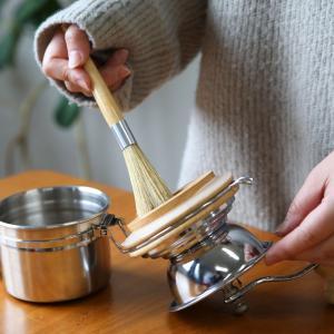 青芳 バールコーヒーグラインダーブラシ 豚毛のミル用お手入れブラシ|mikura