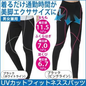 『着るだけ通勤時間がエクササイズ UVカットフィットネススパッツ』 段階別着圧で身体の動きをサポート...