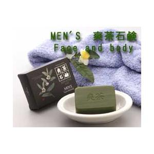 MEN'S 爽茶石鹸 Face and body(男性用デオドラントボディ+洗顔石鹸 緑茶粉末配合)|mikys