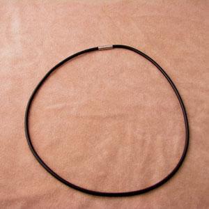 ラバー製チョーカー用ひも(黒) 2mm  CH016|miles