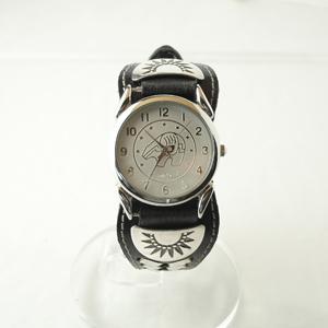 熊の手文字盤がかっこいい牛革腕時計IW-1|miles