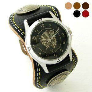 腕時計 KCs(ケーシーズ)ダブルステッチ 牛革 エスパニョーラ ベルト式 KMR504|miles