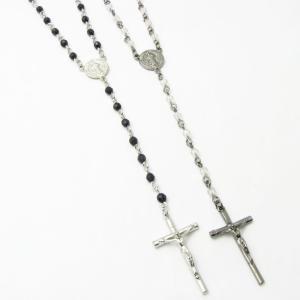 ネックレス ロザリオ カットビーズ シンプル ペンダント クロス 十字架 KN35052|miles