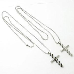 ネックレス 十字架 クロス ステンレス製ネックレス チェーン付 kn41030|miles