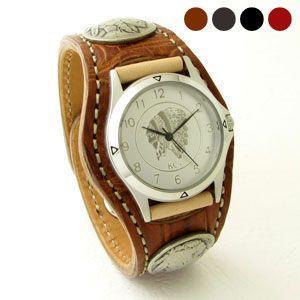 腕時計 KCs(ケーシーズ)クロコダイル ワニ革 3コンチ ョレザーウォッチ KPR006|miles