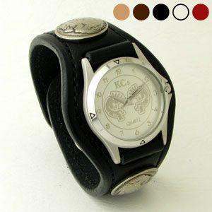 腕時計 KCs(ケーシーズ)牛革 サドルレザー 3コンチョレザーウォッチ 5色 KSR501|miles