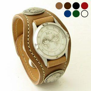 腕時計 KCs(ケーシーズ)馬革 コードバン 3コンチョレザーウォッチ KSR505|miles