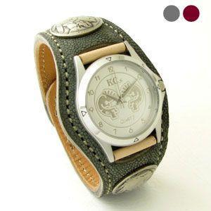 腕時計 KCs(ケーシーズ) エレファント ゾウ革 3コンチョレザーウォッチ KSR510|miles