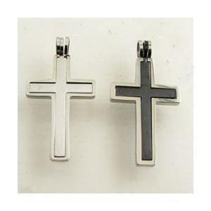 ペンダントヘッド 十字架 クロス ステンレス製 ペンダントトップ kt26004|miles