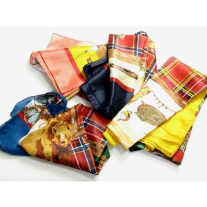 ベア(クマ)×チェック柄スカーフ 4色 SC14 スカーフ マフラー 防寒小物 巻物 ショール ストール miles