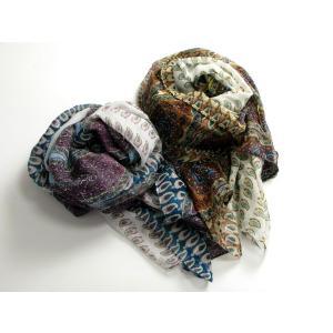 ペイズリー柄・やわらか素材のストール 2色 SC9 スカーフ マフラー 防寒小物 巻物 ショール ストール miles