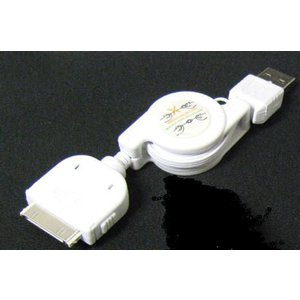 IPOD⇔USB-Aタイプ(オス)変換ケーブル/巻取式【EC-USB-IPOD-W】 milford