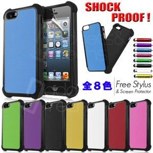 【iPhone5用】SHOCK PROOF COMBO HYBRID CASE/全8色【IP5DC06】|milford