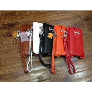 【iPhone5用】Flip Colorful Cowhide Leather Wallet Pouch Case/全5色【IP5LC04】|milford