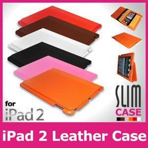 iPad2/iPad3rd用レザースリムケースカバースタンド/全6色【IPAD2-LC04】|milford