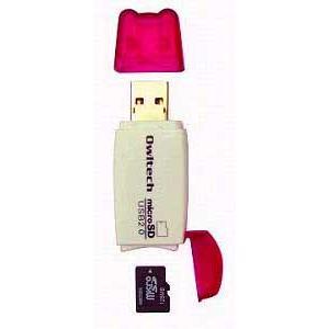 OWLTECH製microSD対応カードリーダー(ピンク)|milford