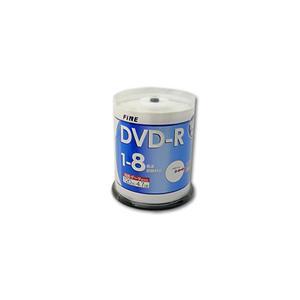 FINE(ファイン)製DVD-R(100枚入り/8倍速)メディア【FDR47-8X100PW】|milford
