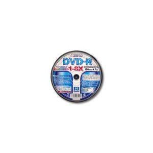 ZERO(ゼロ)製DVD-R(10枚入り/8倍速)メディア【ZER47-8X10PW】|milford