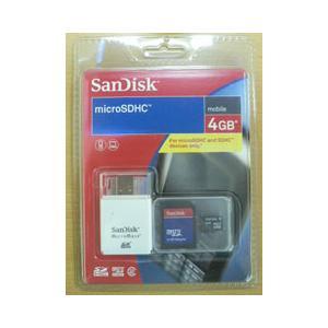 SANDISK製 microSDHC(USBリーダー付)/4GB|milford