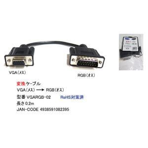 VGA(メス)→PC98用RGB(オス)変換ケーブル/20cm(VG-VGARGB-02)|milford