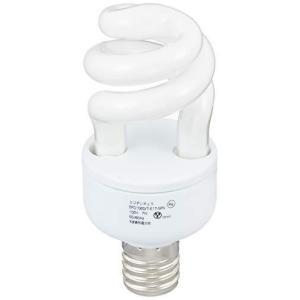 オーム電機 電球型蛍光灯 エコデンキュウ スパイラル形 E17 40形相当 昼光色 2個入 [品番]06-0256 EFD10ED/7E17SPN2P|milimilimea64