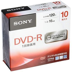 ソニー ビデオ用DVD-R CPRM対応 120分 1-16倍速 5mmケース 10枚パック 10DMR12MLDS milimilimea64