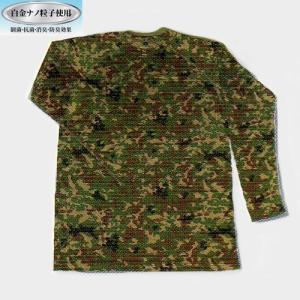白金ナノ 迷彩長袖Tシャツ(吸汗・速乾) militant