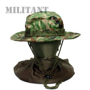 (ネコポス対応)陸上自衛隊迷彩ブ―ニーハット 陸自迷彩 ブッシュハット ジャングルハット 無線機ループ付き|militant