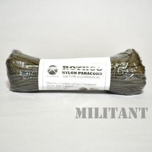 ROTHCO ロスコ ナイロン製パラコード 550LB 100フィート OD/オリーブ|militantonline