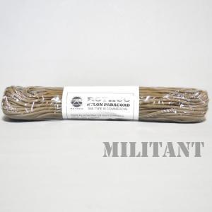 ROTHCO ロスコ ナイロン製パラコード 550LB 100フィート タンカラー|militantonline