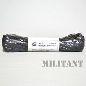 ROTHCO ロスコ ナイロン製パラコード 550LB 100フィートブラック|militantonline