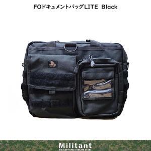 FOドキュメントバッグ Mini 黒|militantonline