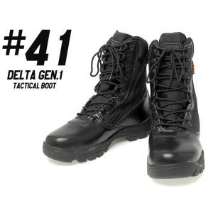 DELTAモデル タクティカルブーツ w/ サイドジッパー Gen1/BK/26cm