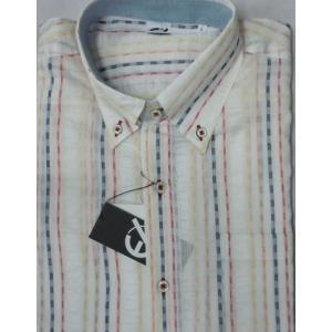 新作!59%オフ![サイズ M,L,LL]  百貨店ブランド  EASY-X  綿麻混長袖シャツ |million-arrow