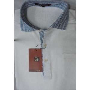74%OFF! 【GE-STYLE】布帛衿鹿の子半袖ポロシャツ Mのみ  (L,LL 売切)|million-arrow