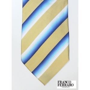 激安!FRANCO FERRARO フランコフェラーロ ネクタイ シルク100% 絹 イエロー million-arrow