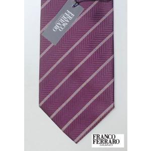 45%OFF!FRANCO FERRARO フランコフェラーロ ネクタイ シルク100% 絹 エンジ色 million-arrow