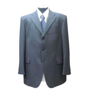 【1点物】【秋冬物】3ボタンツーパンツスーツ ミディアムグレーストライプ系 [サイズ BB6]|million-arrow