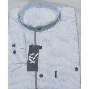 値下げ![サイズ M,L,LL]  百貨店ブランド  EASY-X  スタンドカラー 長袖シャツ   |million-arrow