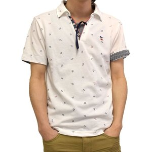 カノコ 海洋動物ワッペン&プリント スキッパー ポロシャツ|million-arrow