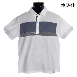 梨地 異素材 ブレスト切替 ポロシャツ|million-arrow