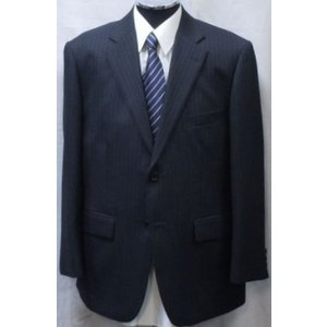 1点物![秋冬物] レギュラー2パンツスーツ[サイズ BB4 ] ブラックストライプ系 84381−09|million-arrow