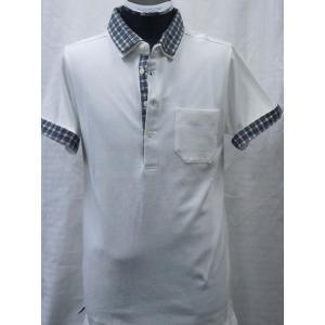 綿100%2枚衿ポロシャツ   サイズ Mのみ ホワイト|million-arrow