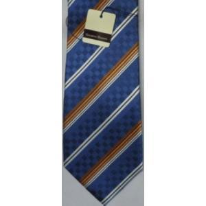 ジャカード織 シルクネクタイ  ブルー|million-arrow