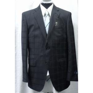 イタリー生地 REDA 使用  シングルスーツ ブラック チェック系  |million-arrow