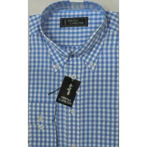 商品入れ替えのため大放出!Mのみ!  (S,L,LL売切)  イージーケア ボタンダウンシャツ  チェック柄ブルー|million-arrow
