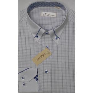 Deep Ocean 高級ワイシャツ すっきりシルエット 形態安定 38-82|million-arrow